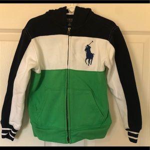 Polo Ralph Lauren Boy's Zip Up Sweatshirt - Size 5
